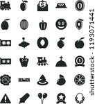 solid black flat icon set... | Shutterstock .eps vector #1193071441