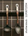 kitchen utensils in a kitchen   Shutterstock . vector #1193072554