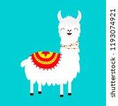 llama alpaca. childish baby... | Shutterstock .eps vector #1193074921