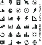 solid black flat icon set... | Shutterstock .eps vector #1193076214