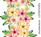 flower print in bright colors.... | Shutterstock .eps vector #1193076301