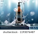 men's body wash ads with... | Shutterstock .eps vector #1193076487