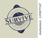 blue survive distress grunge... | Shutterstock .eps vector #1193077147