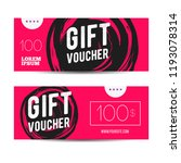 voucher gift for shop with... | Shutterstock .eps vector #1193078314