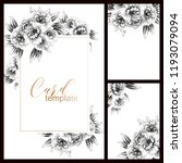 romantic wedding invitation... | Shutterstock .eps vector #1193079094