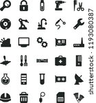 solid black flat icon set... | Shutterstock .eps vector #1193080387