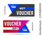 voucher gift for shop with... | Shutterstock .eps vector #1193082034
