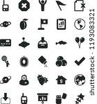 solid black flat icon set mark... | Shutterstock .eps vector #1193083321
