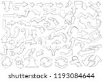 arrows. large collection of... | Shutterstock .eps vector #1193084644