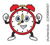 cartoon alarm clock character | Shutterstock .eps vector #1193085457