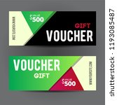 voucher gift for shop with... | Shutterstock .eps vector #1193085487