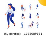 isomeric shopping people vector ... | Shutterstock .eps vector #1193089981