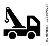 a tow truck indicating towing... | Shutterstock .eps vector #1193090284