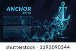 the anchoring of the particles... | Shutterstock .eps vector #1193090344