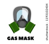 vector gas mask icon  | Shutterstock .eps vector #1193102404