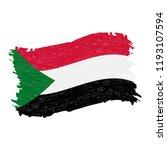 flag of sudan  grunge abstract...   Shutterstock .eps vector #1193107594