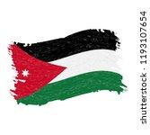 flag of jordan  grunge abstract ...   Shutterstock .eps vector #1193107654