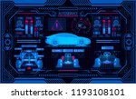 car service. graphic interface...   Shutterstock . vector #1193108101
