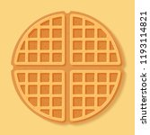 Round Waffle. Vector...