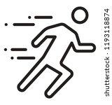 human pictogram in running...   Shutterstock .eps vector #1193118874