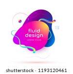 organic design of liquid color... | Shutterstock .eps vector #1193120461