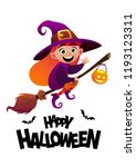 happy halloween cartoon... | Shutterstock .eps vector #1193123311