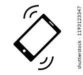 mobile vibration icon   Shutterstock .eps vector #1193123347