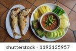 nam phrik kapi.shrimp paste... | Shutterstock . vector #1193125957