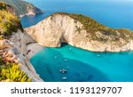 shipwreck beach morning photo... | Shutterstock . vector #1193129707