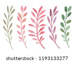 branches watercolor illustration | Shutterstock . vector #1193133277