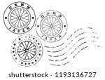 vector postmarks with... | Shutterstock .eps vector #1193136727