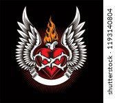heart wing logo for your design ... | Shutterstock .eps vector #1193140804