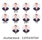 business man character with... | Shutterstock .eps vector #1193144764