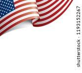 usa flag  vector illustration... | Shutterstock .eps vector #1193152267