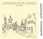 rothenburg  germany  europe.... | Shutterstock .eps vector #1193152597