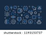 future vector banner in linear... | Shutterstock .eps vector #1193153737