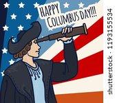 happy columbus day concept... | Shutterstock .eps vector #1193155534