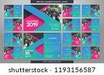 desk calendar 2019 template  ... | Shutterstock .eps vector #1193156587