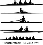 rowing set   vector | Shutterstock .eps vector #119315794
