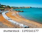 sunbeds close to the beach of...   Shutterstock . vector #1193161177