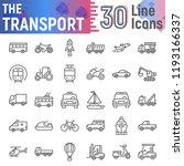 transport line icon set ... | Shutterstock .eps vector #1193166337