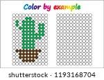worksheet.   cactus   puzzle... | Shutterstock .eps vector #1193168704