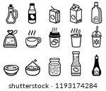 liquid food flavoring and milk... | Shutterstock .eps vector #1193174284