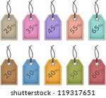 colorful price tags for sale.... | Shutterstock .eps vector #119317651