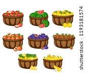 cartoon illustration set of... | Shutterstock .eps vector #1193181574