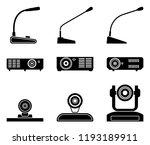 set of conference equipment....   Shutterstock .eps vector #1193189911