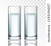 glass with water on a... | Shutterstock .eps vector #1193194327