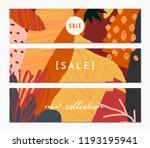 autumn sale banner design.... | Shutterstock .eps vector #1193195941