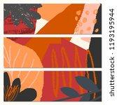 abstract autumn banner design.... | Shutterstock .eps vector #1193195944