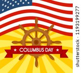 national columbus day concept... | Shutterstock .eps vector #1193199277